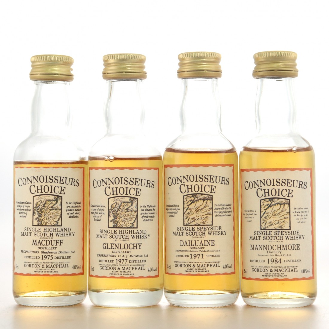 Gordon and MacPhail Miniature Selection 4 x 5cl / Including Glenlochy 1977