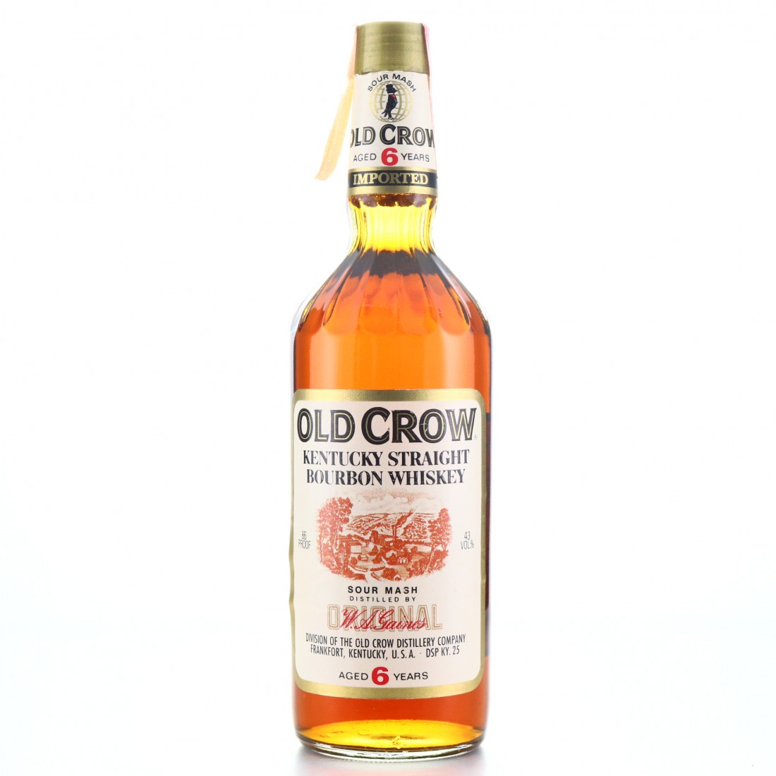 Old Crow 6 Year Old Kentucky Straight Bourbon 1980s
