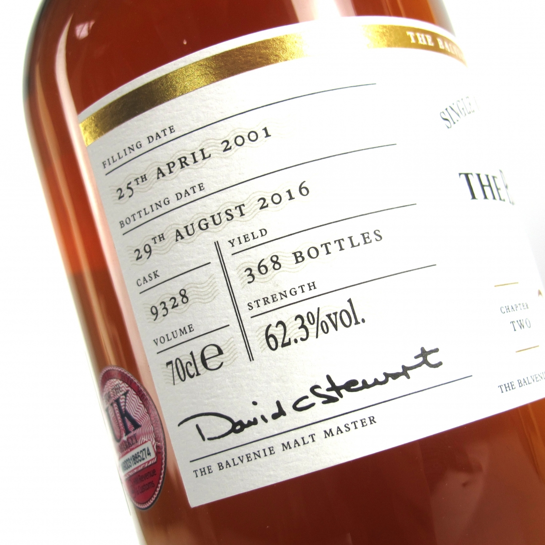 Balvenie 2001 DCS Compendium 15 Year Old Chapter #2 / Signed Including Pictures and USB