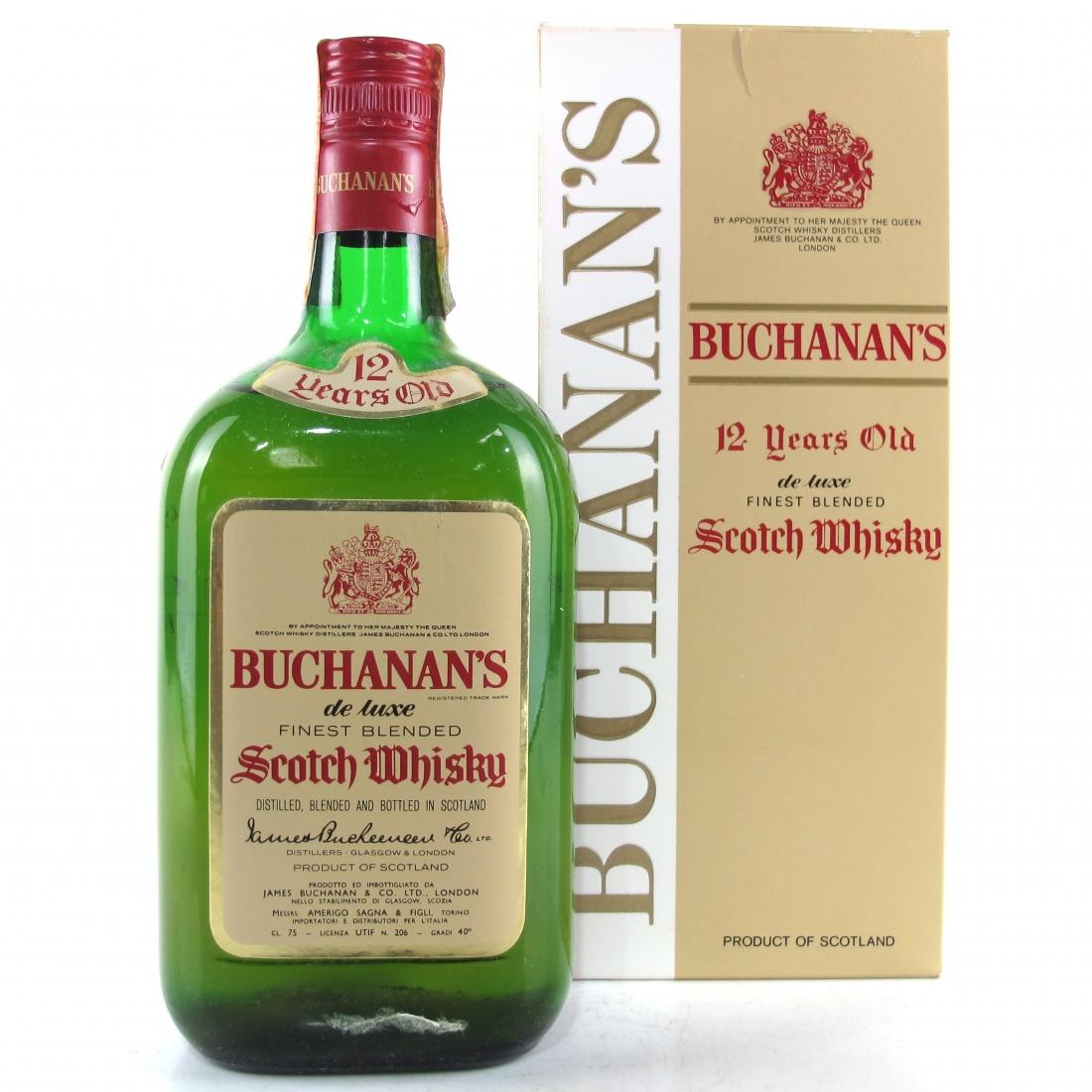 Buchanan's 12 Year Old De Luxe 1970s