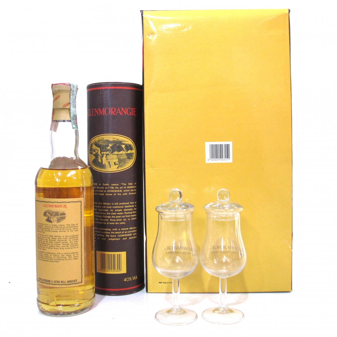 Glenmorangie 10 Year Old Gift Pack / Including 2 x Glasses