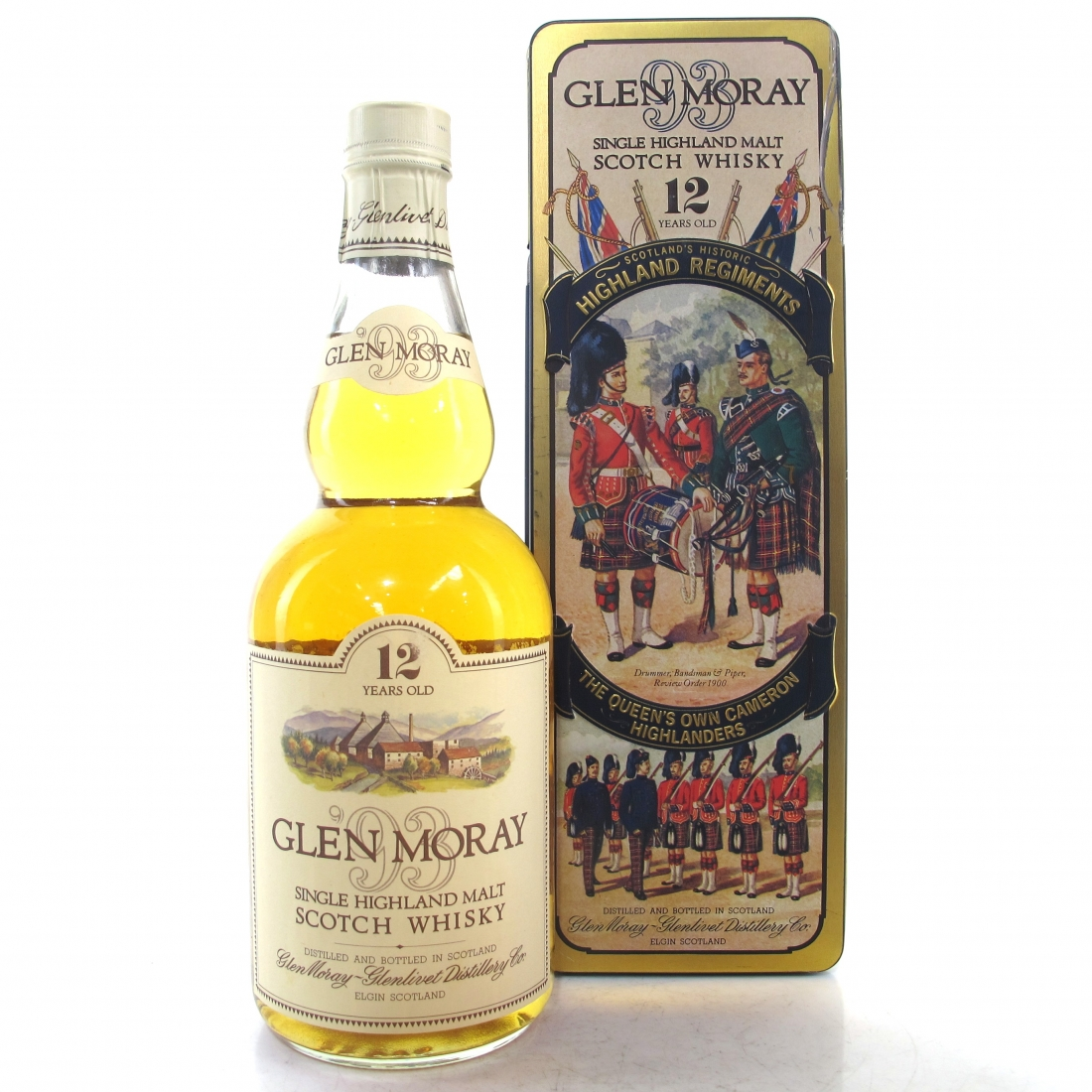Glen Moray 12 Year Old 1980s / Queen's Own Cameron Highlanders