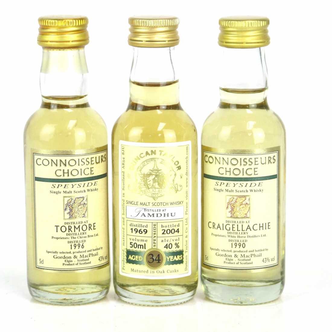 Speyside Miniature Selection 3 x 5cl / including Tamdhu 1969 34 Year Old