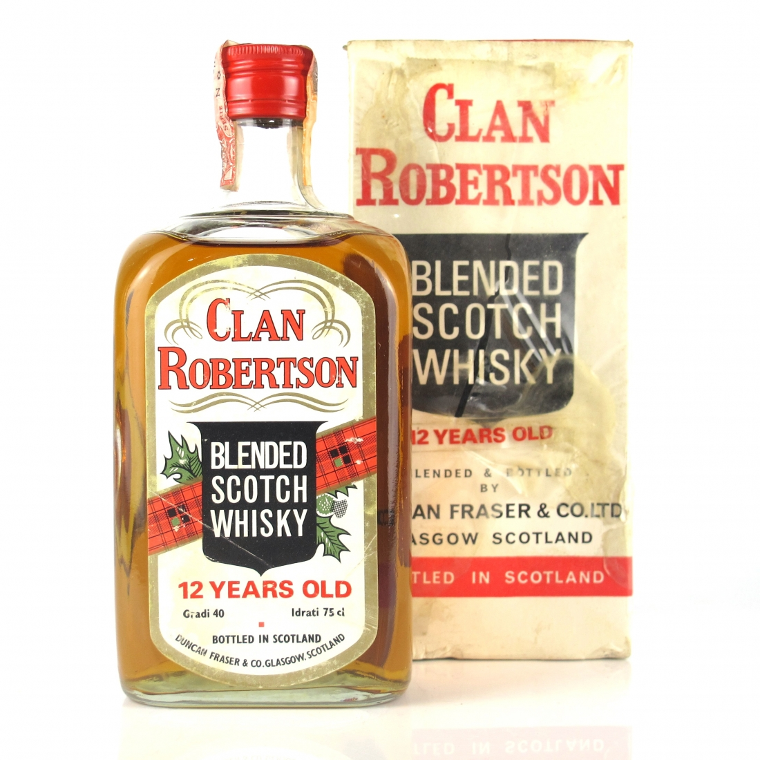 Clan Robertson 12 Year Old Scotch 1980s / Donato Import
