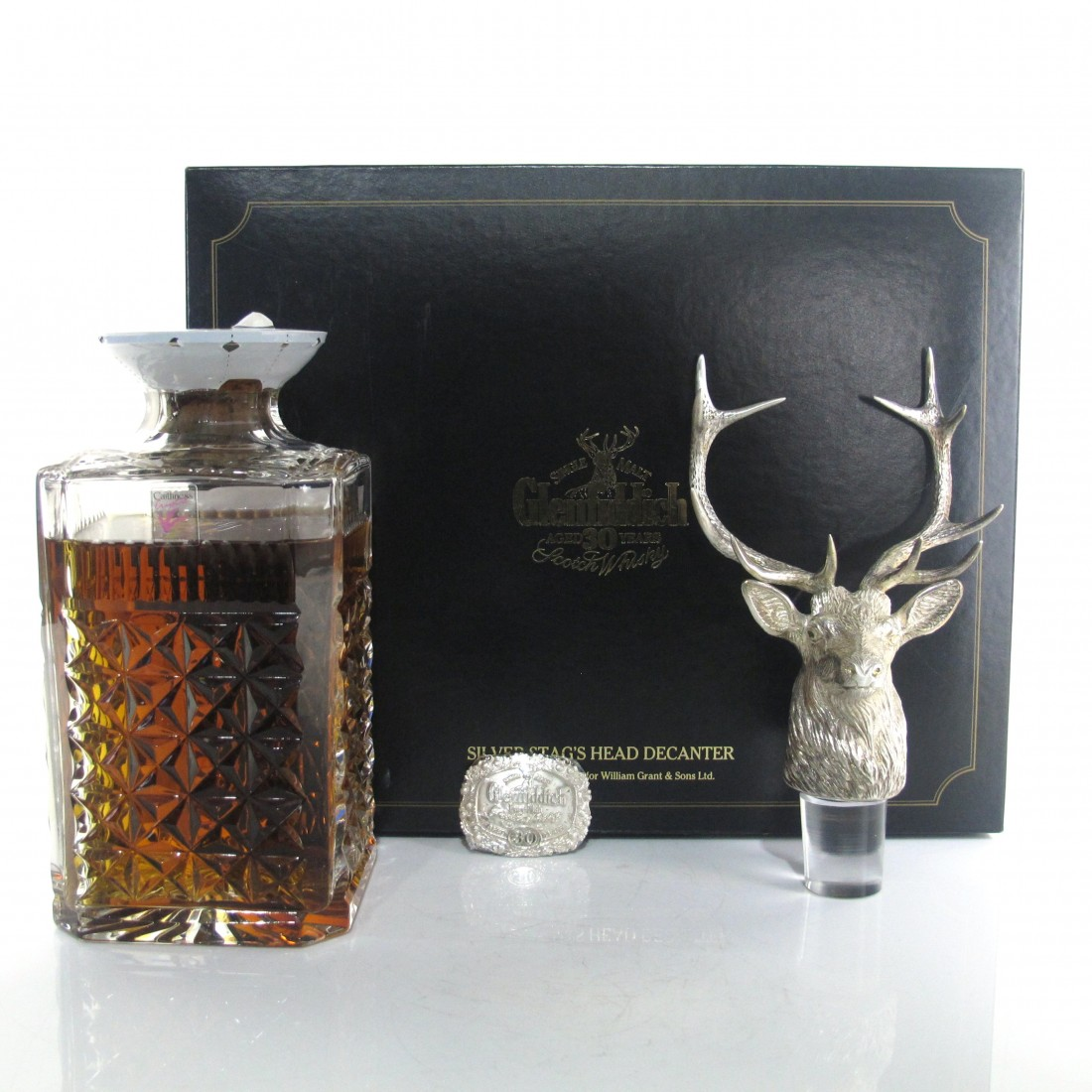Glenfiddich 30 Year Old Silver Stag's Head Decanter