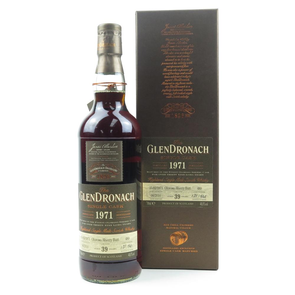 Glendronach 1971 Single Cask 39 Year Old #489