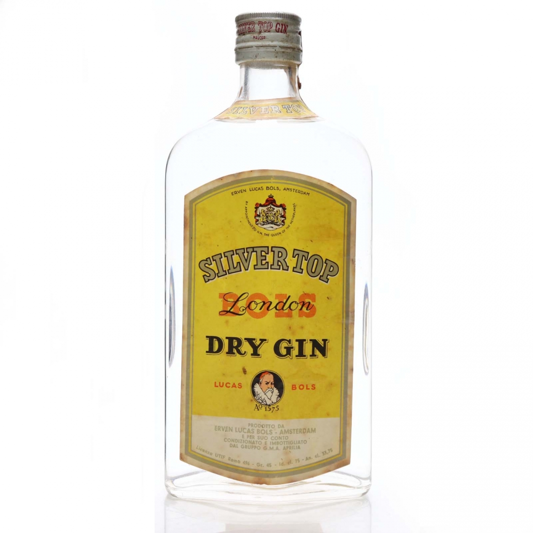Bols Silver Top London Dry Gin 1970s
