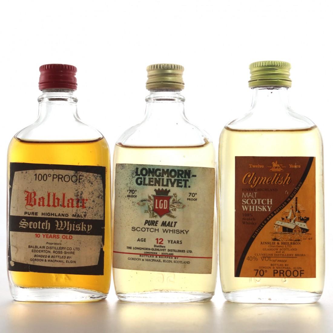 Gordon & MacPhail Miniature Selection 3 x 5cl / including Clynelish Ainslie
