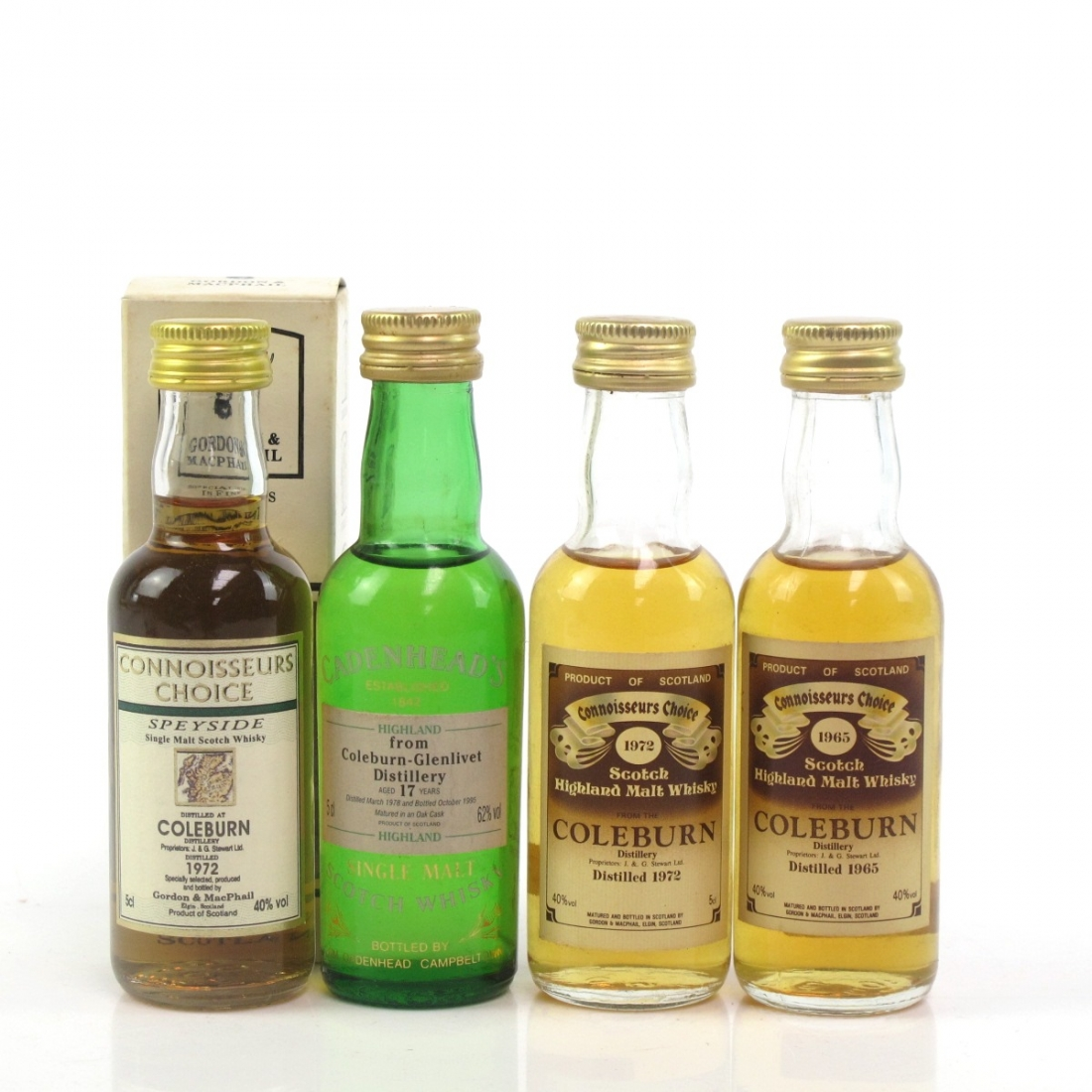 Coleburn Miniature Selection 4 x 5cl / Including 1965 Gordon and MacPhail