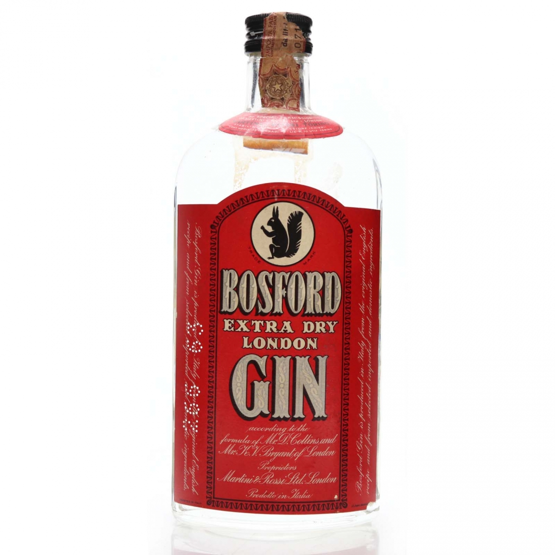 Bosford Extra Dry London Gin 1960s