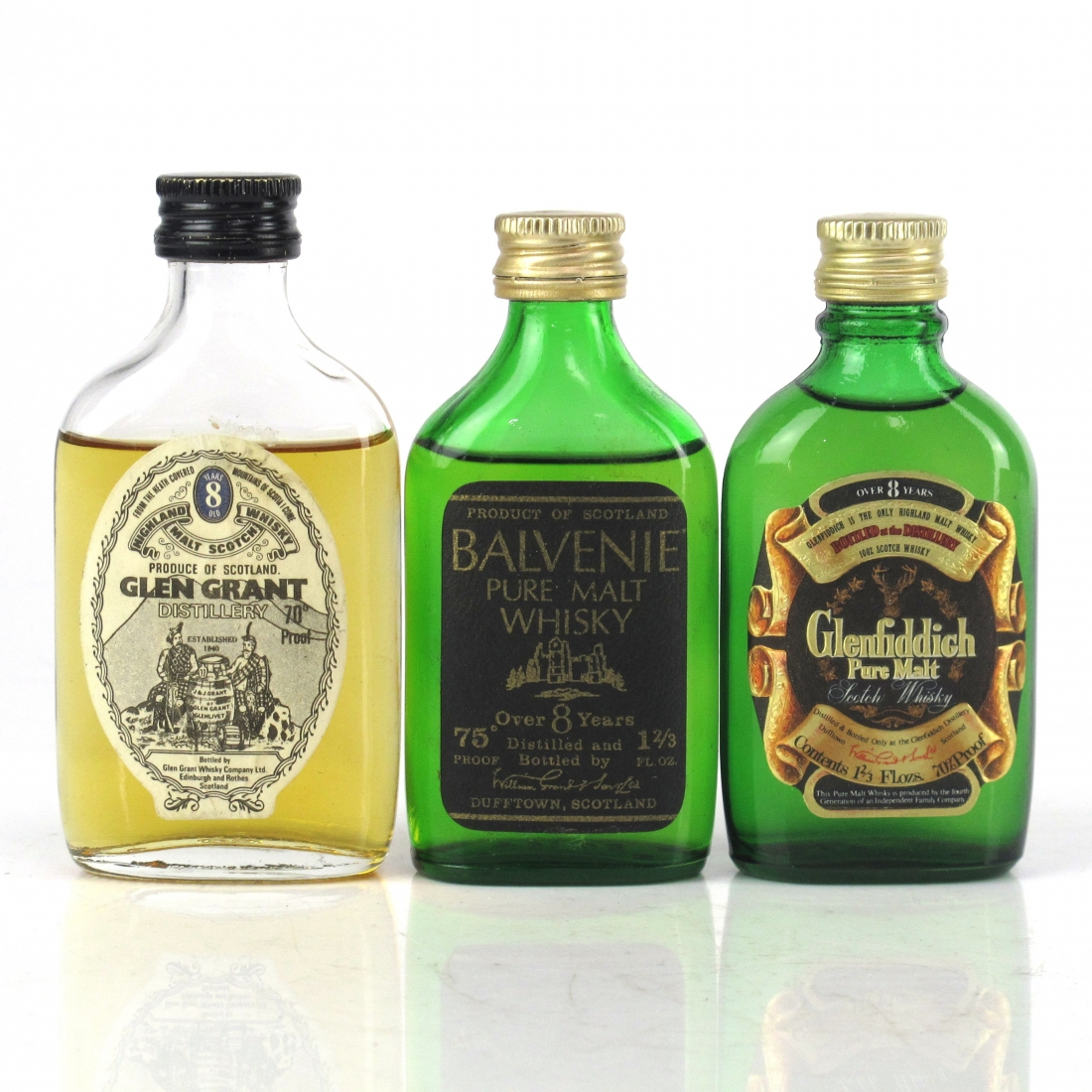 Speyside 1970s Miniature Selection x 3
