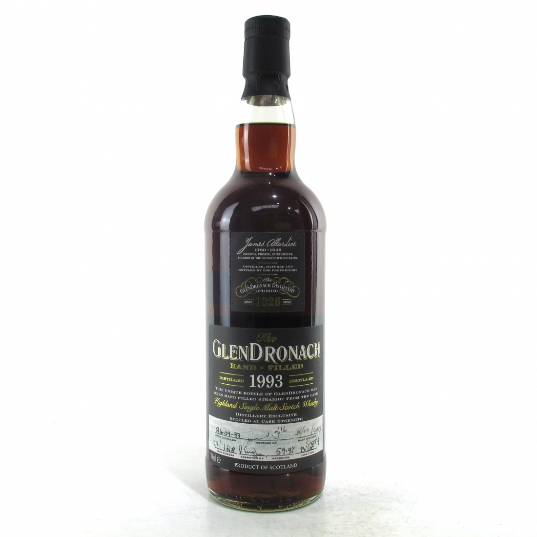 Glendronach 1993 Hand Filled 20 Year Old Cask #1618