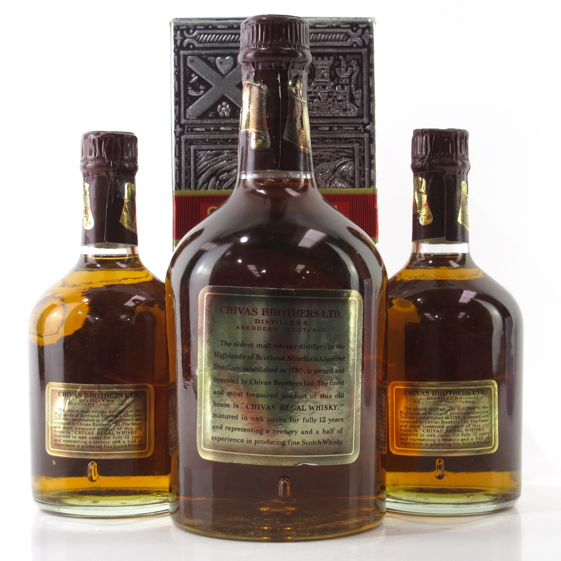 Chivas Regal 12 Year Old 1970s Selection x 3