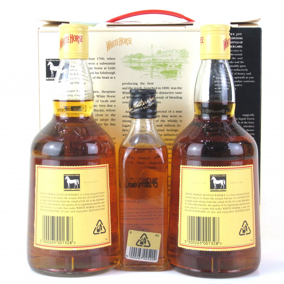 White Horse Scotch Whisky 2 x 70cl / includes Johnnie Walker Black Label 20cl