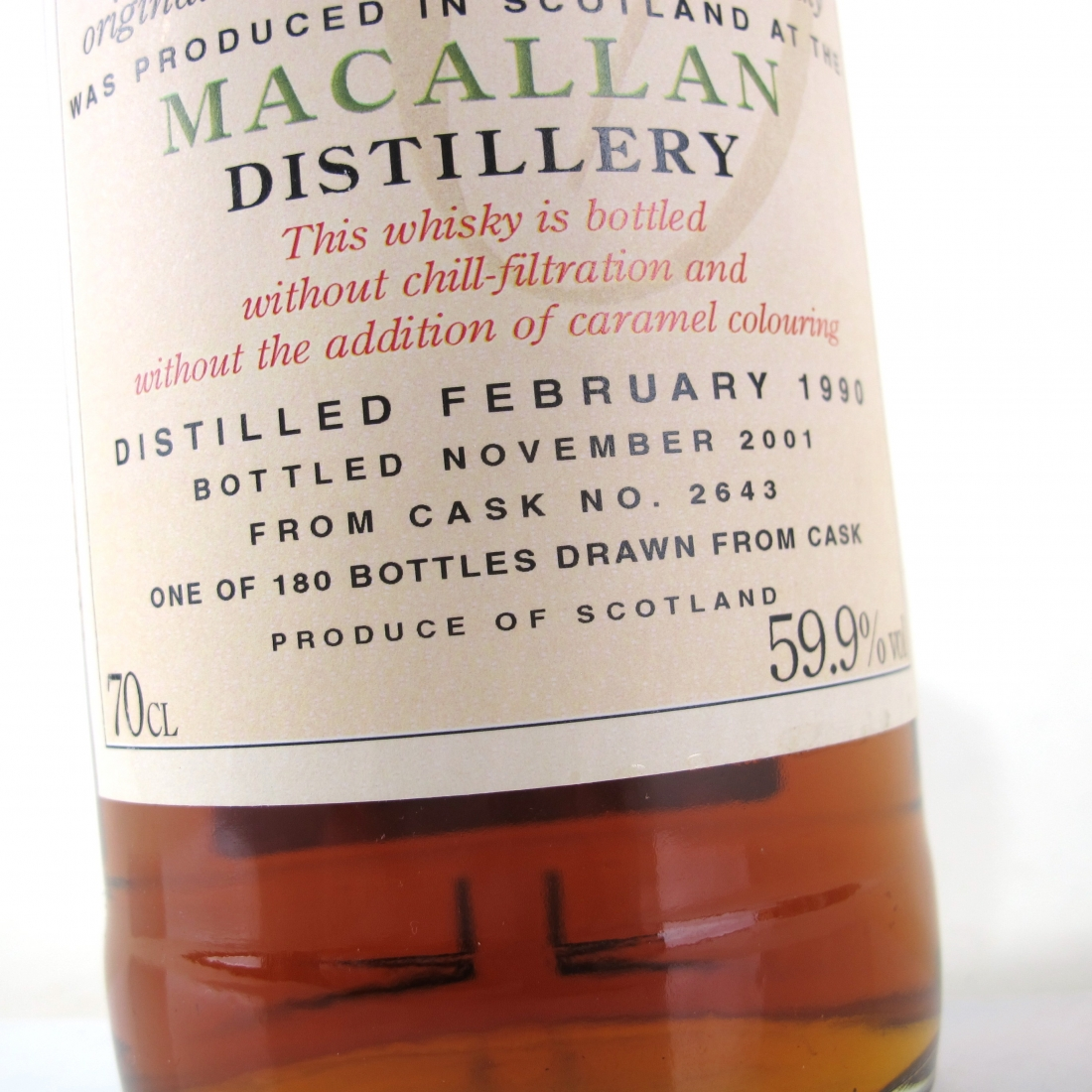 Macallan 1990 The Clydesdale Single Cask #2643