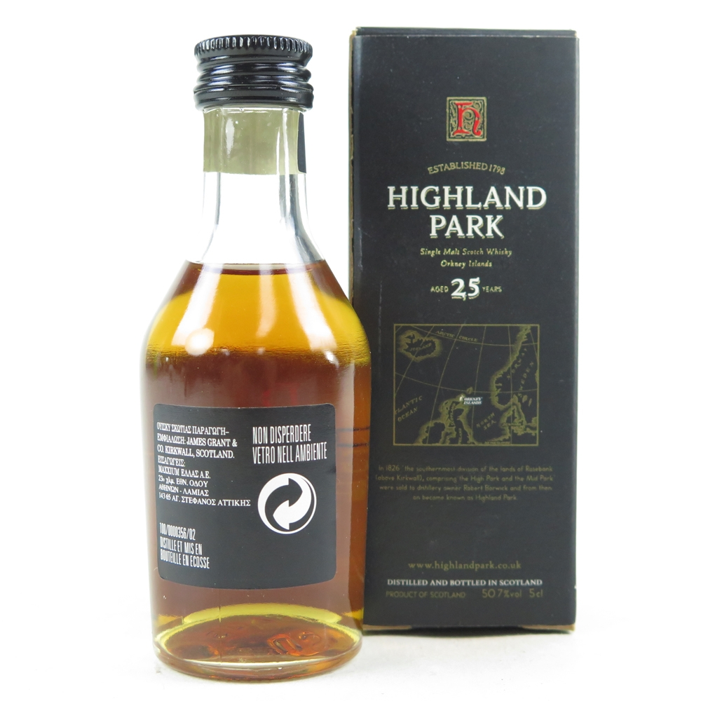 Highland Park 25 Year Old 5cl Miniature