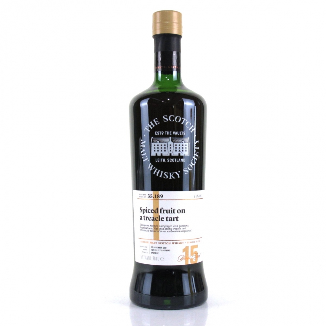 Glen Moray 2001 SMWS 15 Year Old 35.189