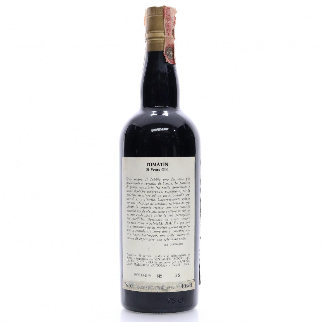 Tomatin 1968 Sestante 21 Year Old / Antica Casa Marchesi Spinola
