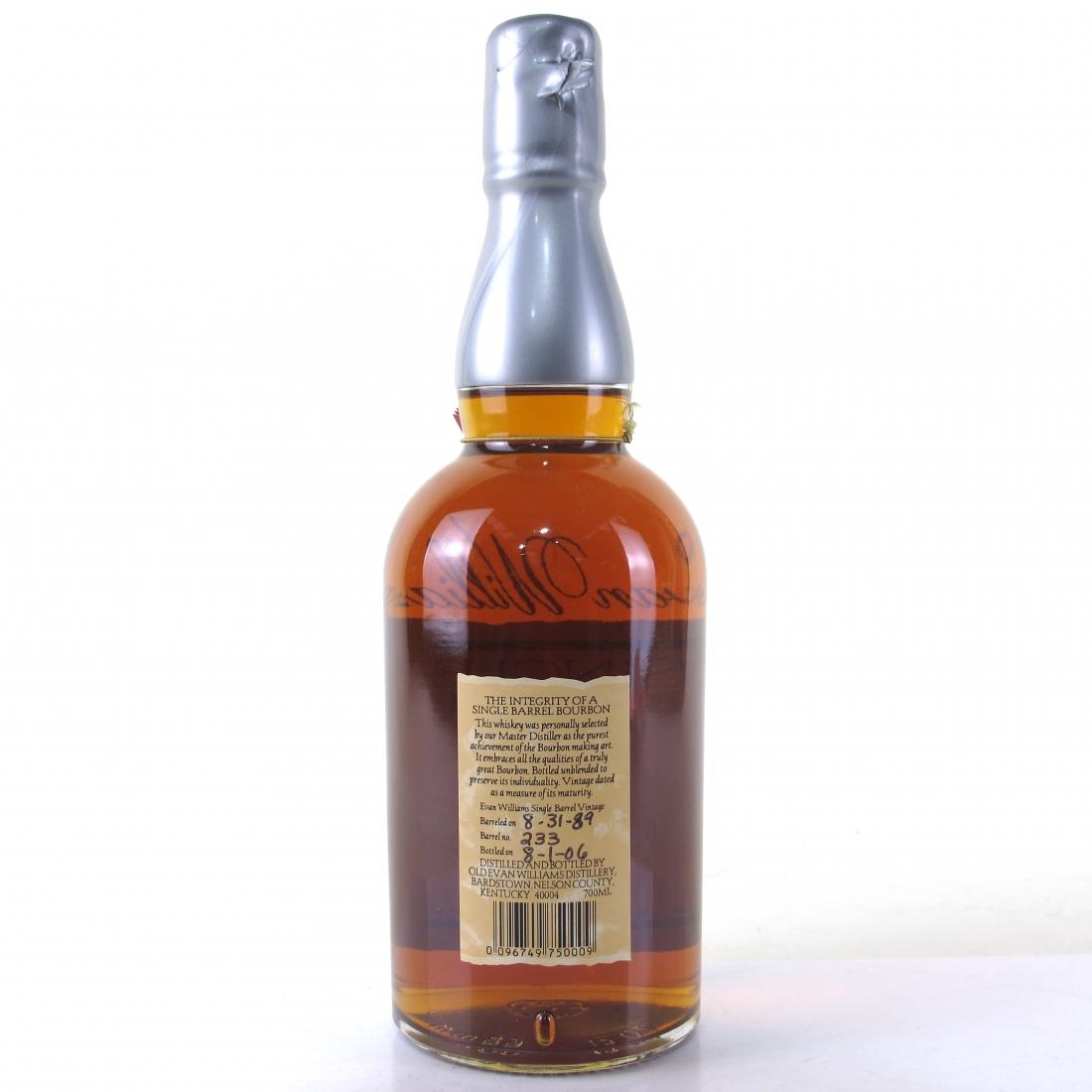 Evan Williams 1989 Single Barrel 17 Year Old / La Maison Du Whisky