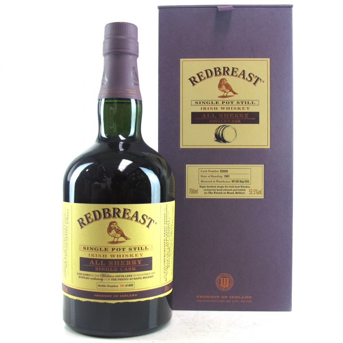 Redbreast 1991 All Sherry Single Cask #82858 / Friend at Hand Exclusive