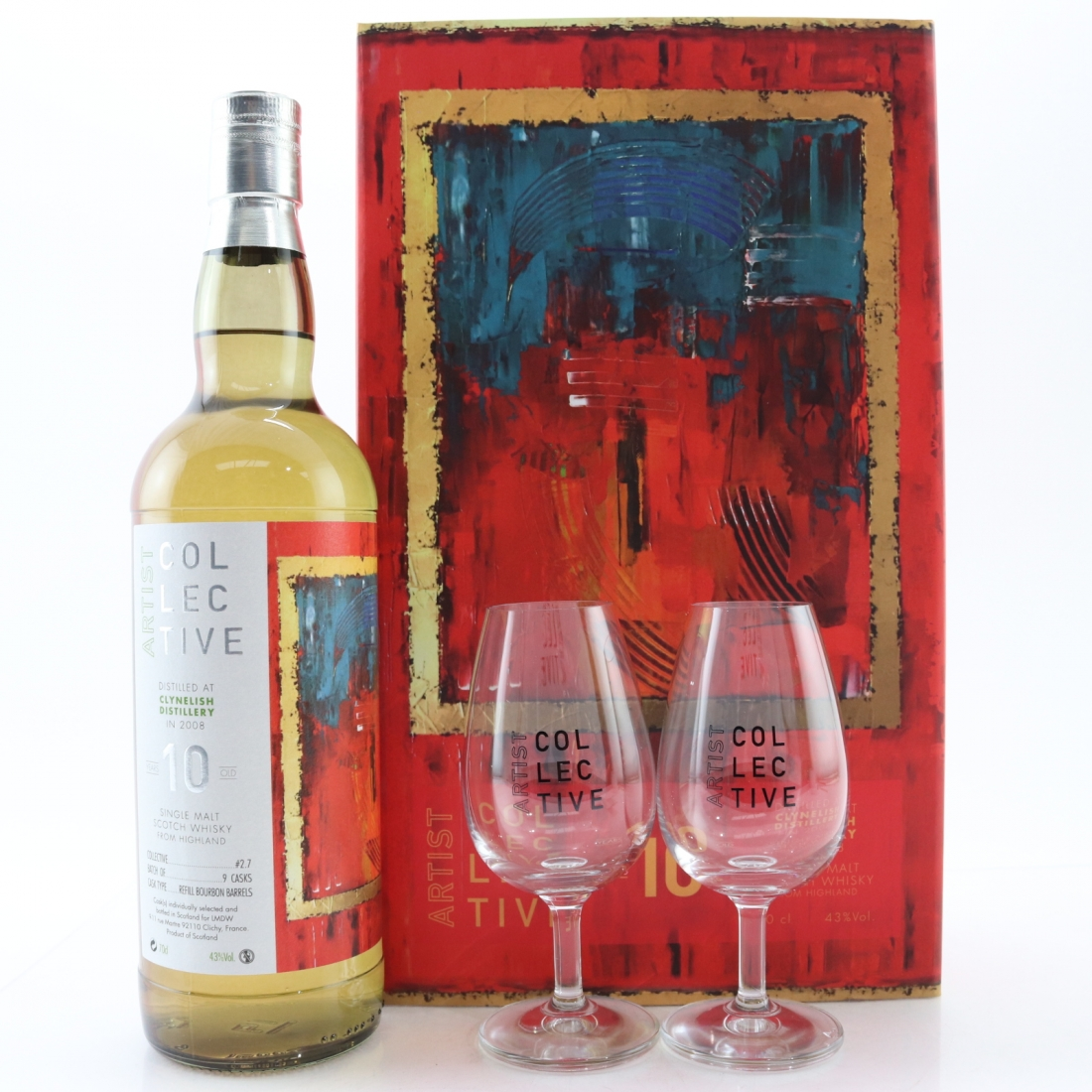 Clynelish 2008 Artist Colective 10 Year Old Gift Pack / including Glass