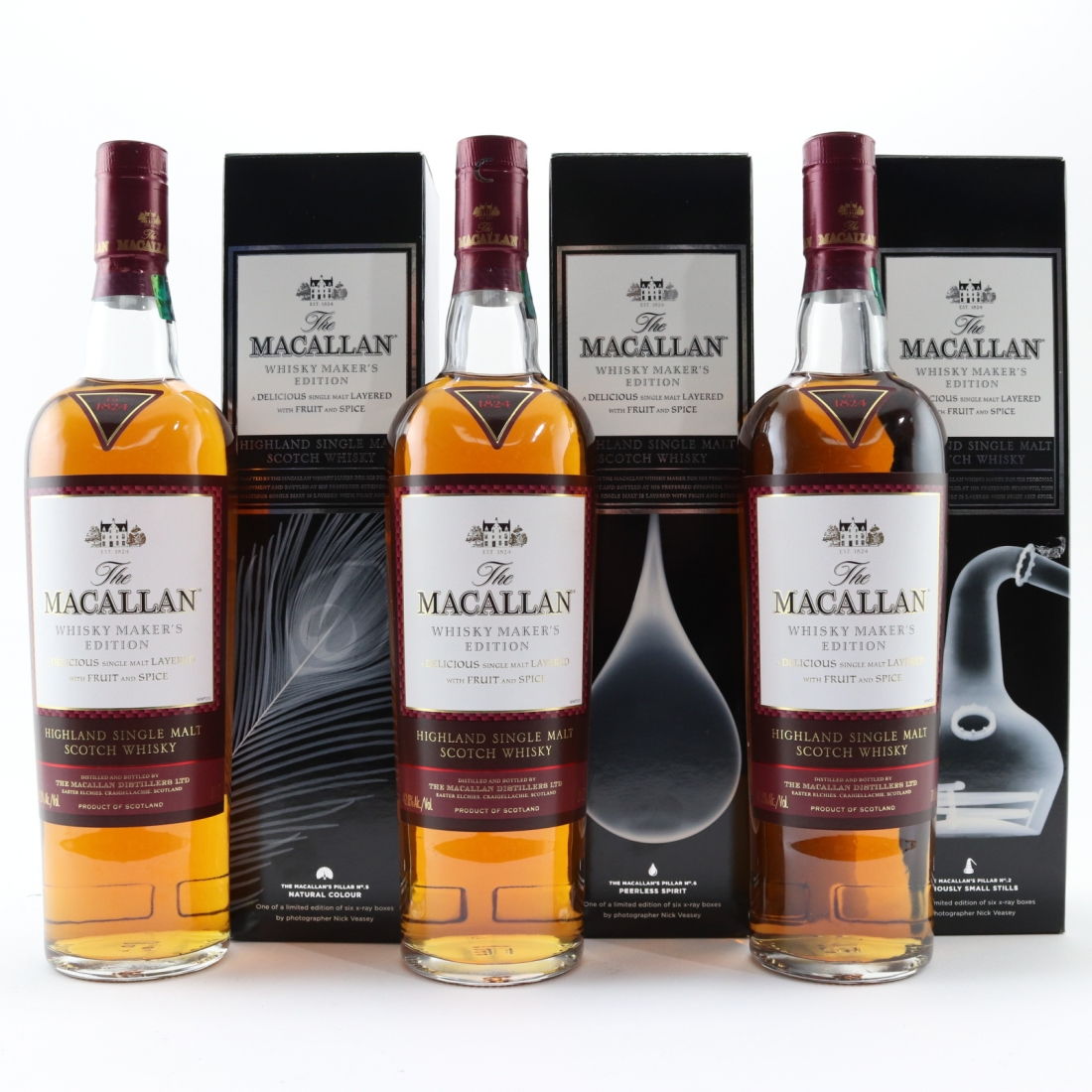 Macallan Whisky Maker's Edition - Nick Veasey Pillars Collection 6 x 70cl