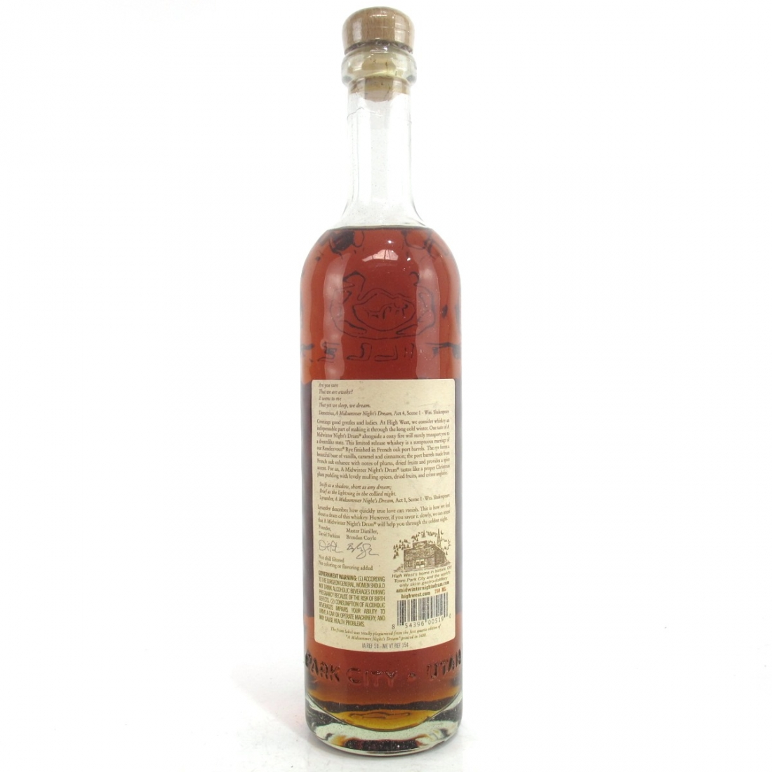 High West A Midwinter Nights Dram Rye Whiskey / Act 5 Scene 4
