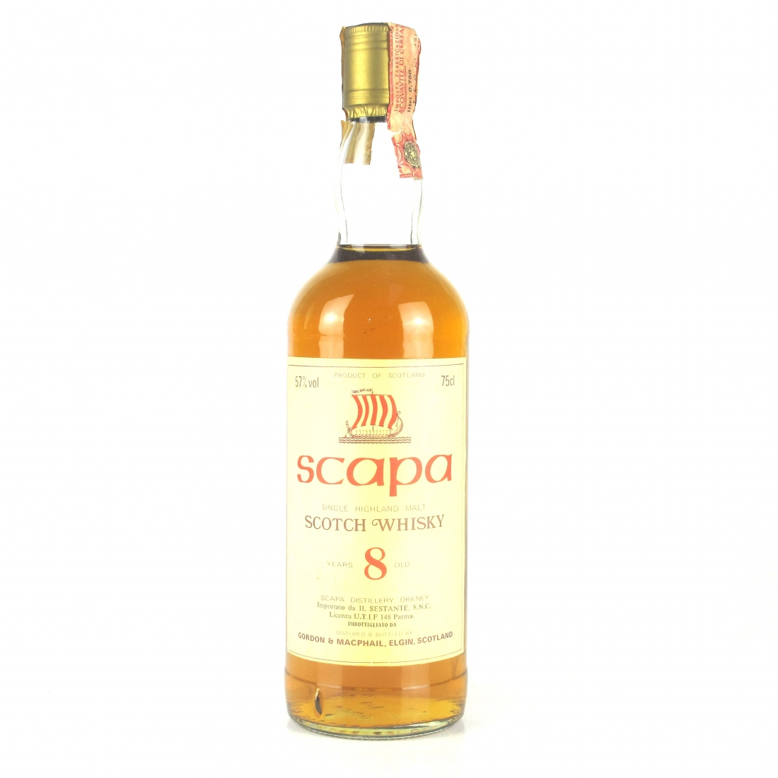 Scapa 8 Year Old Gordon and MacPhail 1980s / Sestante Import
