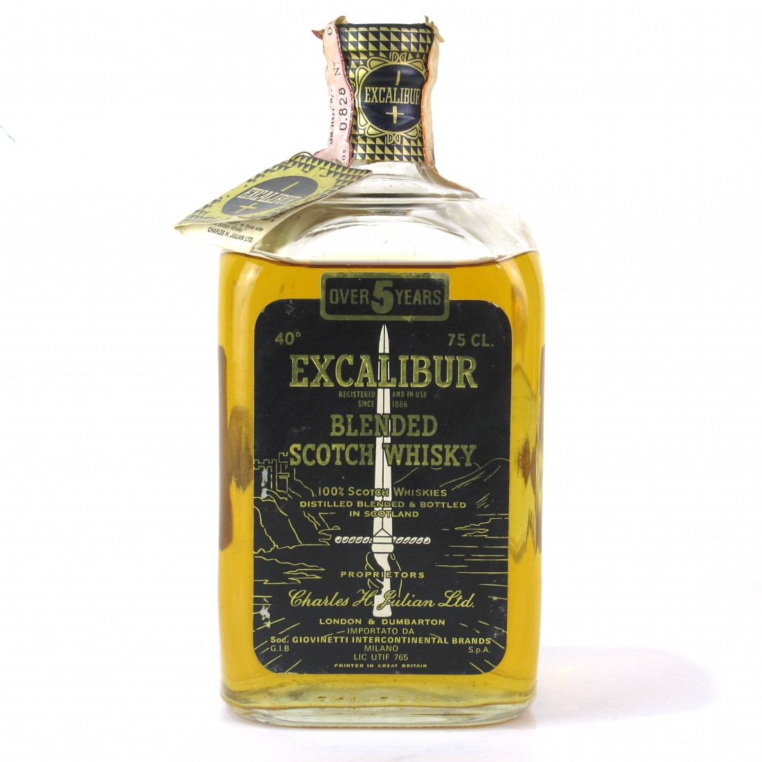 Excalibur 5 Year Old Scotch Whisky 1960s
