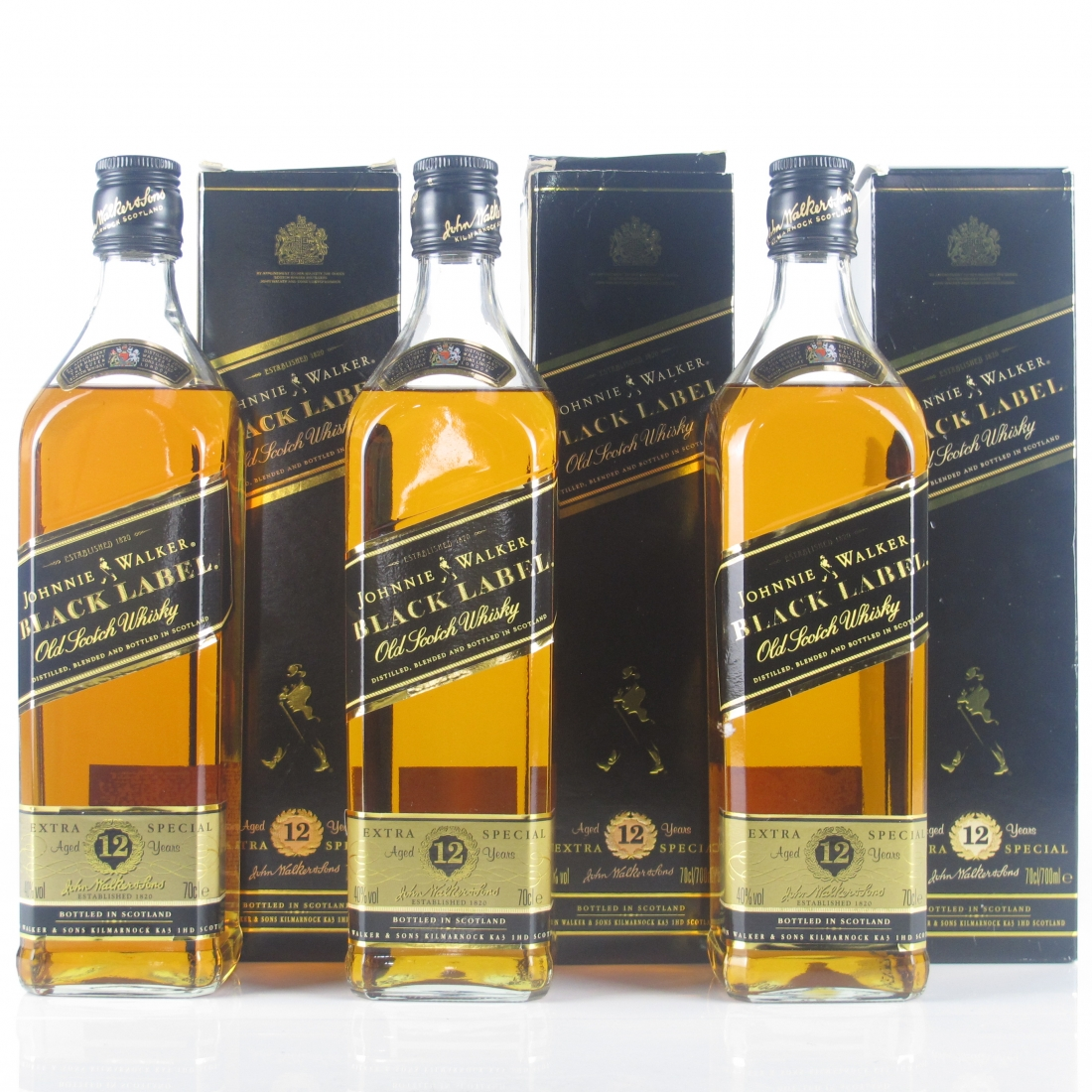 Johnnie Walker Black Label 12 Year Old 3 x 70cl