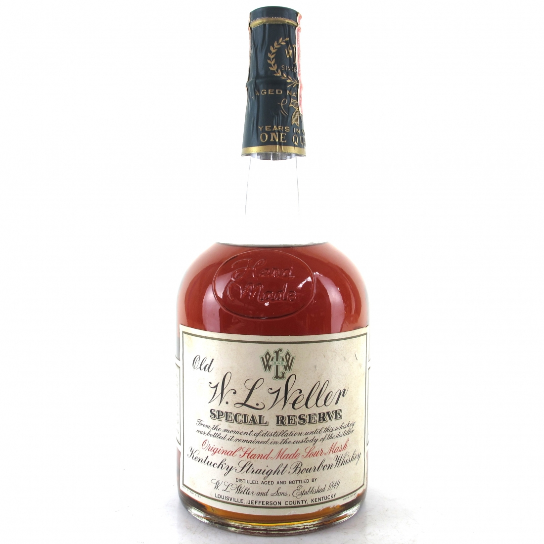 Old W.L. Weller 7 Year Old Special Reserve 1 Quart 1971 / Stitzel-Weller