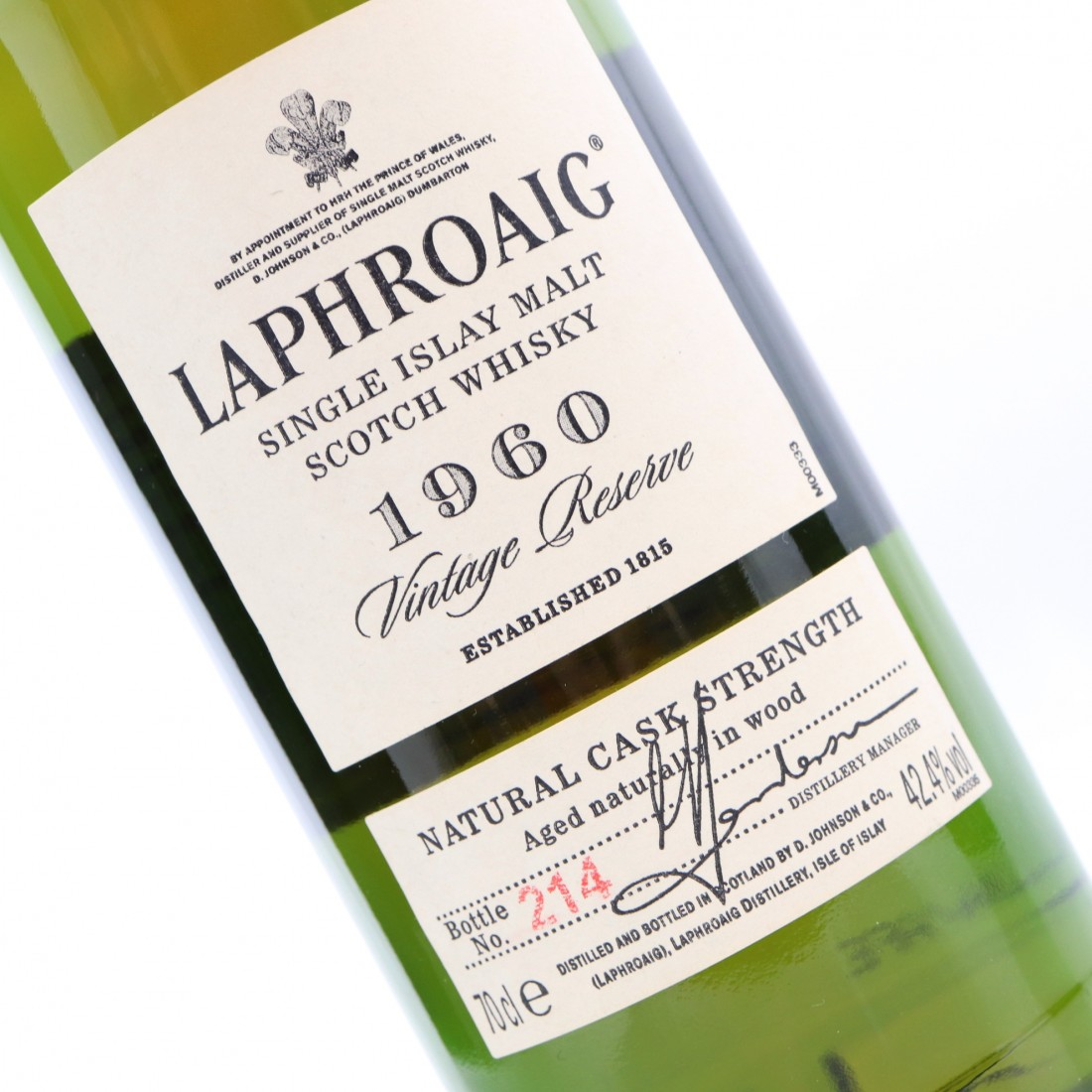Laphroaig 1960 Vintage Reserve 40 Year Old