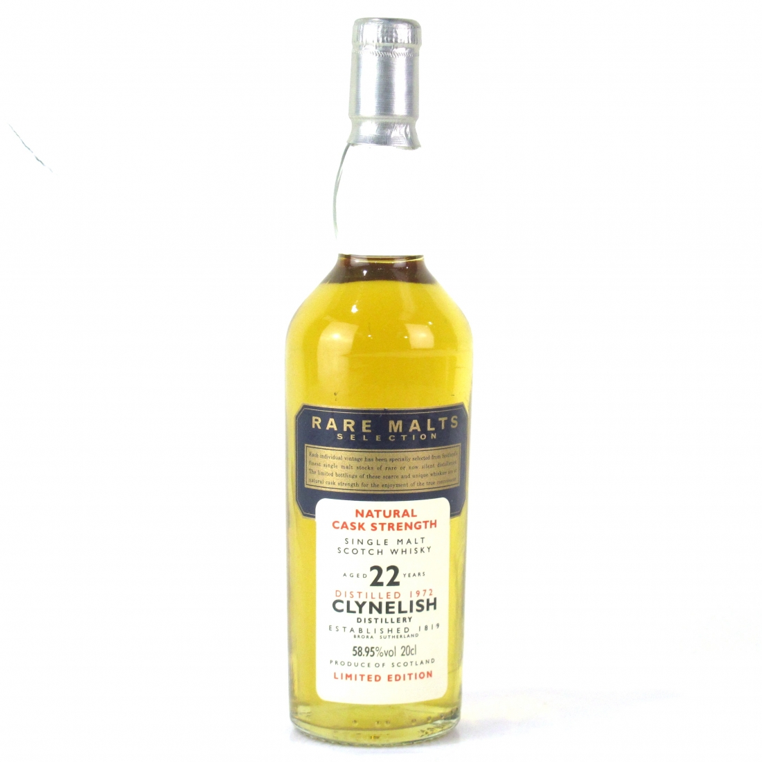 Clynelish 1972 Rare Malt 22 Year Old 20cl / 58.95%