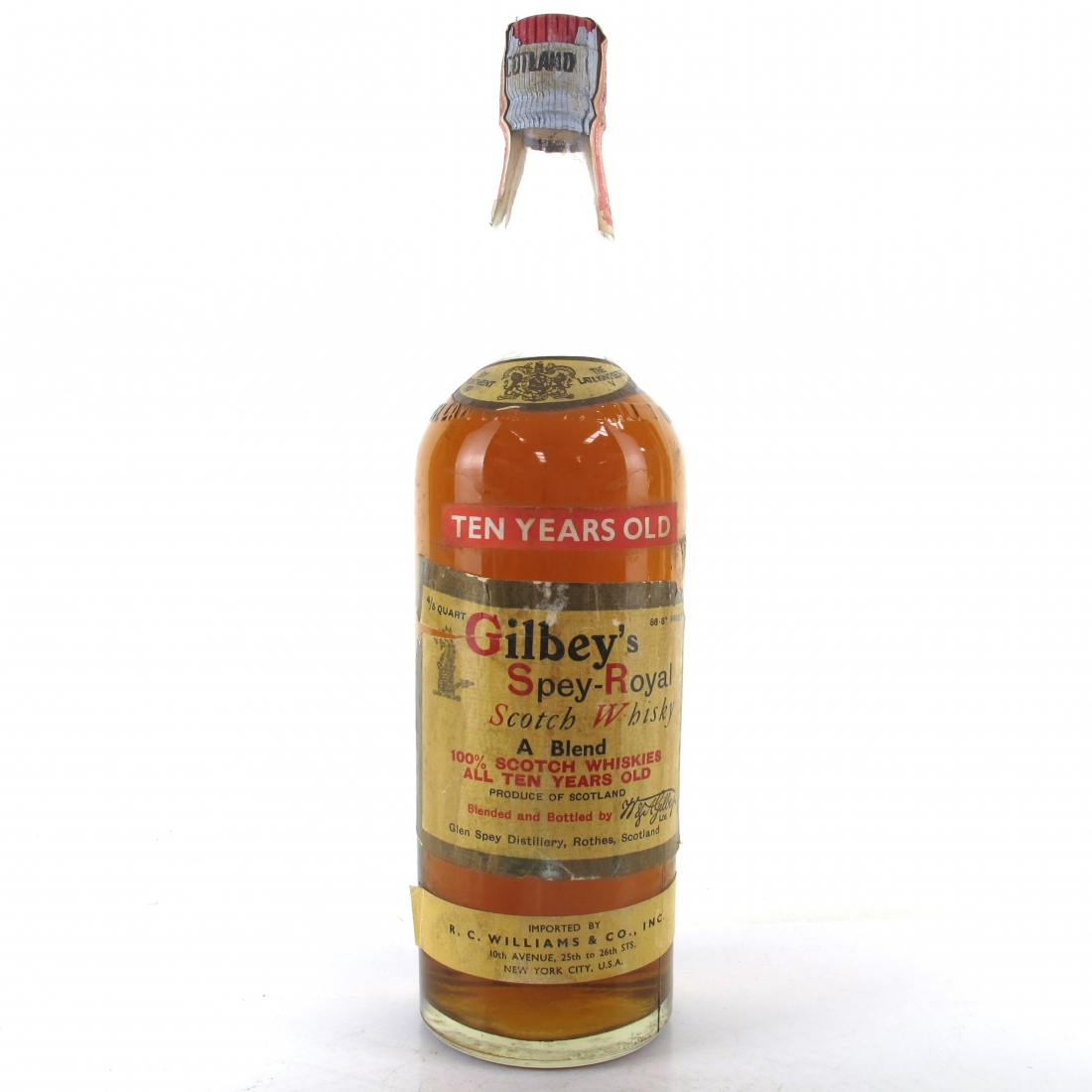 Gilbey's 10 Year Old Spey Royal 1950s / US Import