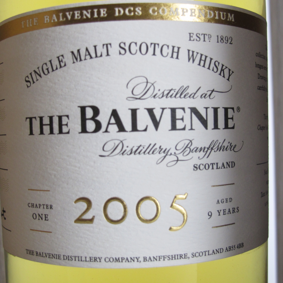 Balvenie 2005 DCS Compendium 9 Years Old Chapter #1