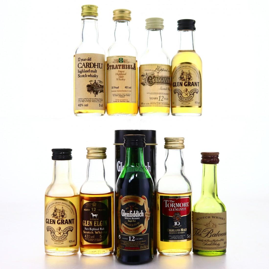 Scotch Malt Whisky Miniatures x 9