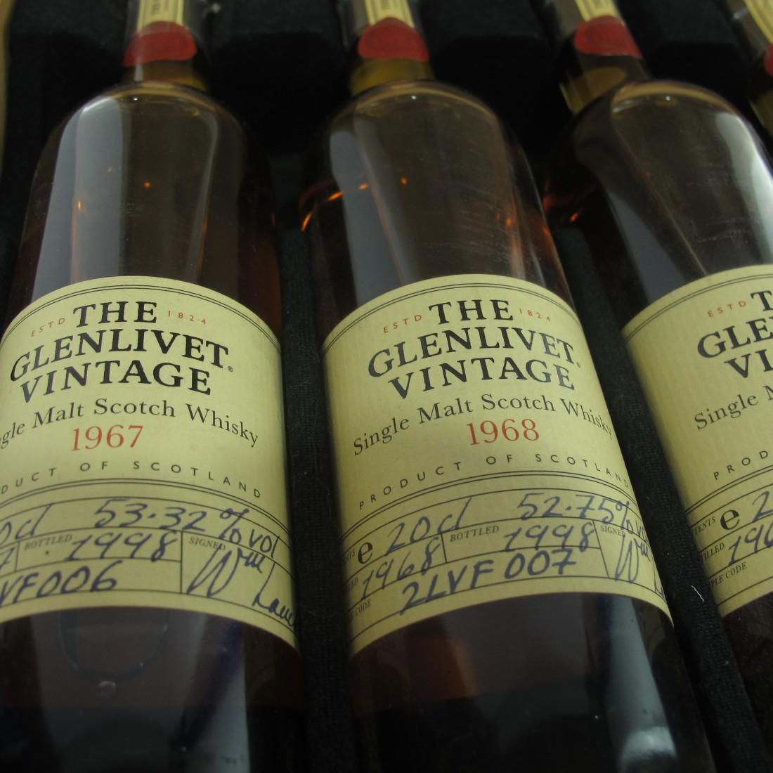 Glenlivet Vintage Collection 1967-1972 5 x 20cl