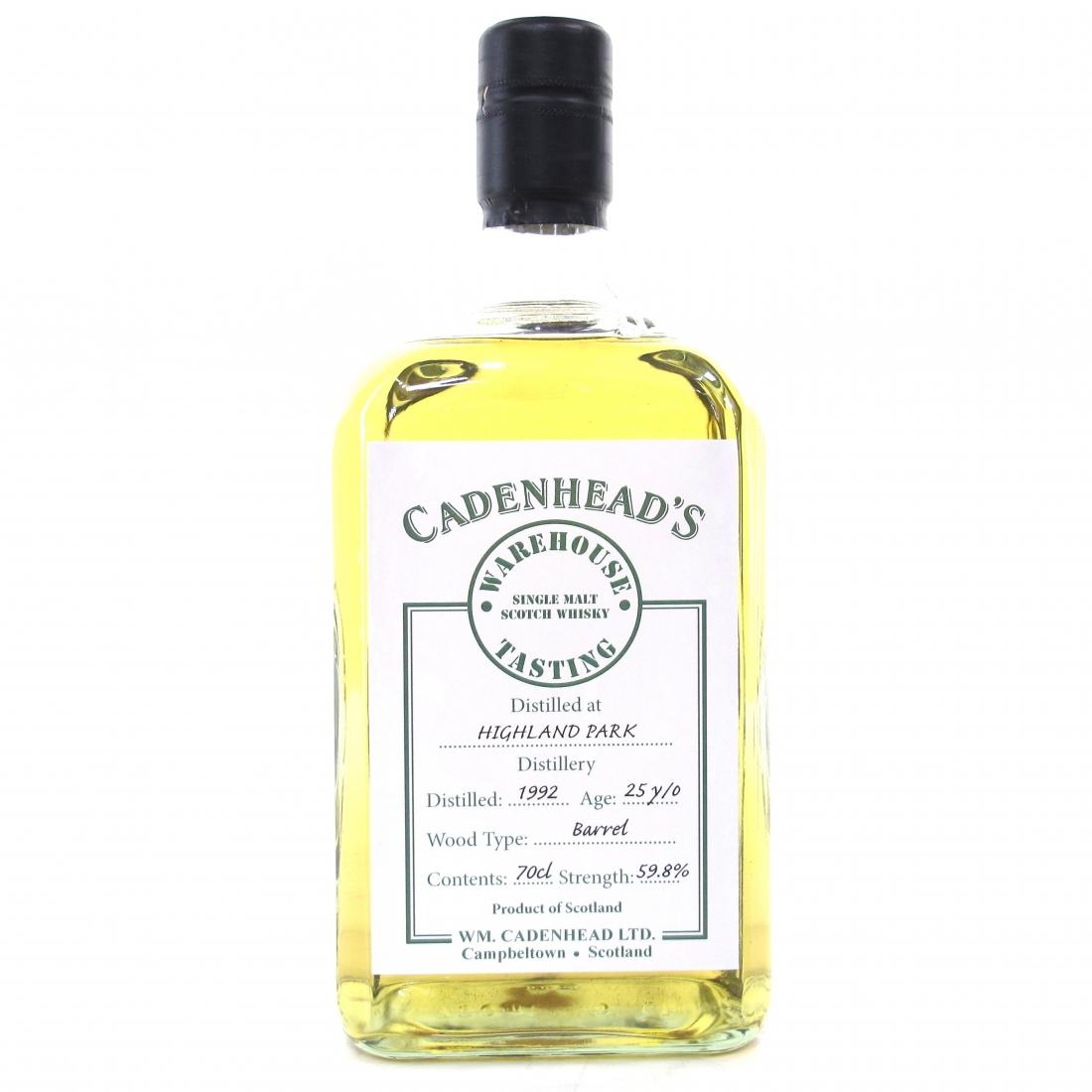 Highland Park 1992 Cadenhead's 25 Year Old / Warehouse Tasting