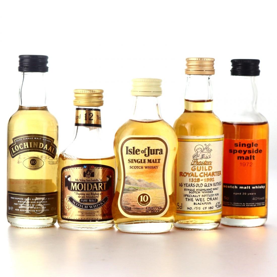 Scotch Malt Whisky Miniatures x 5
