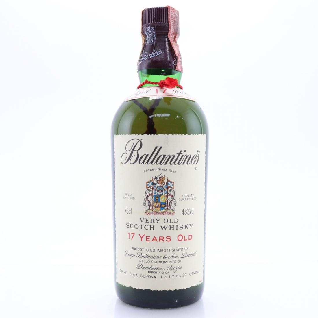 Ballantine's 17 Year Old 1980s
