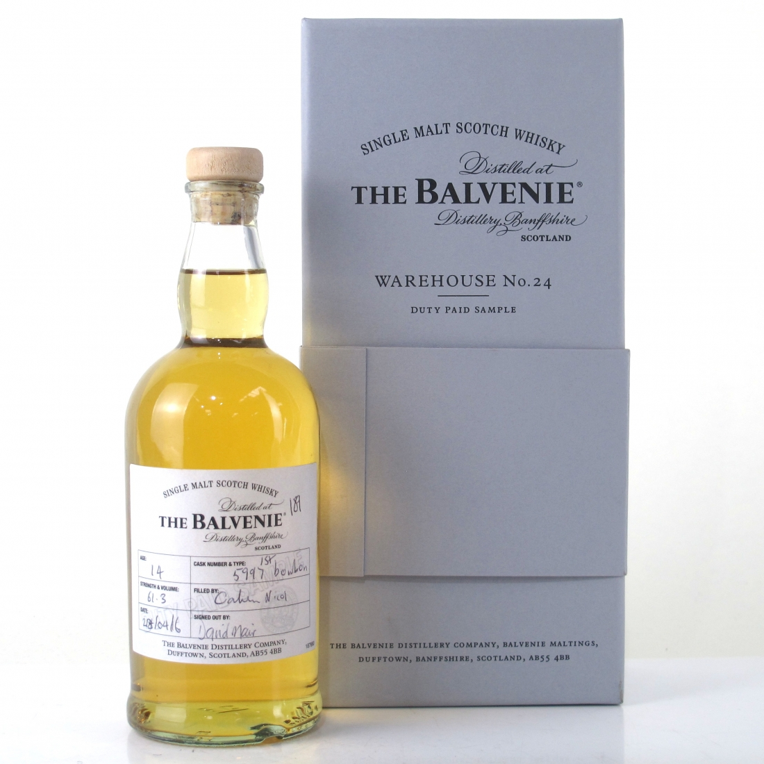 Balvenie 14 Year Old First Fill Bourbon 20cl / Warehouse 24 Sample