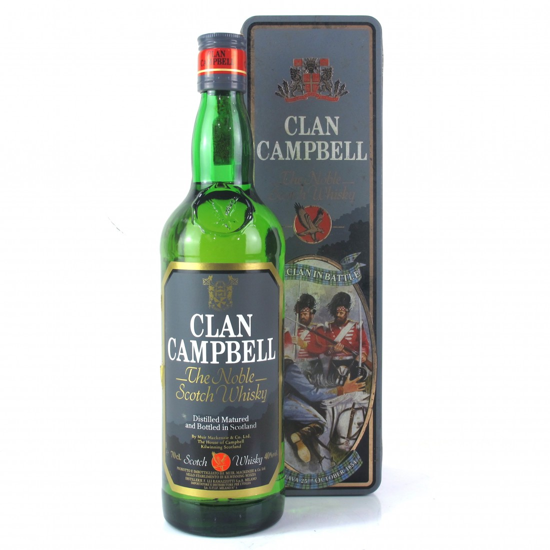 Clan Campbell Scotch Whisky / Clan In Battle Tin