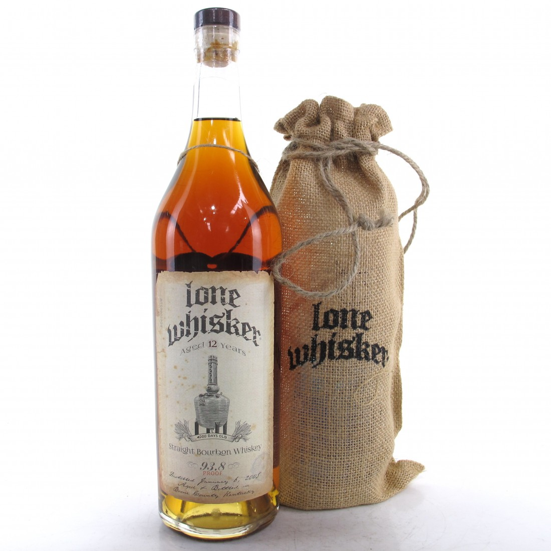 Lone Whisker 12 Year Old Straight Bourbon Whiskey