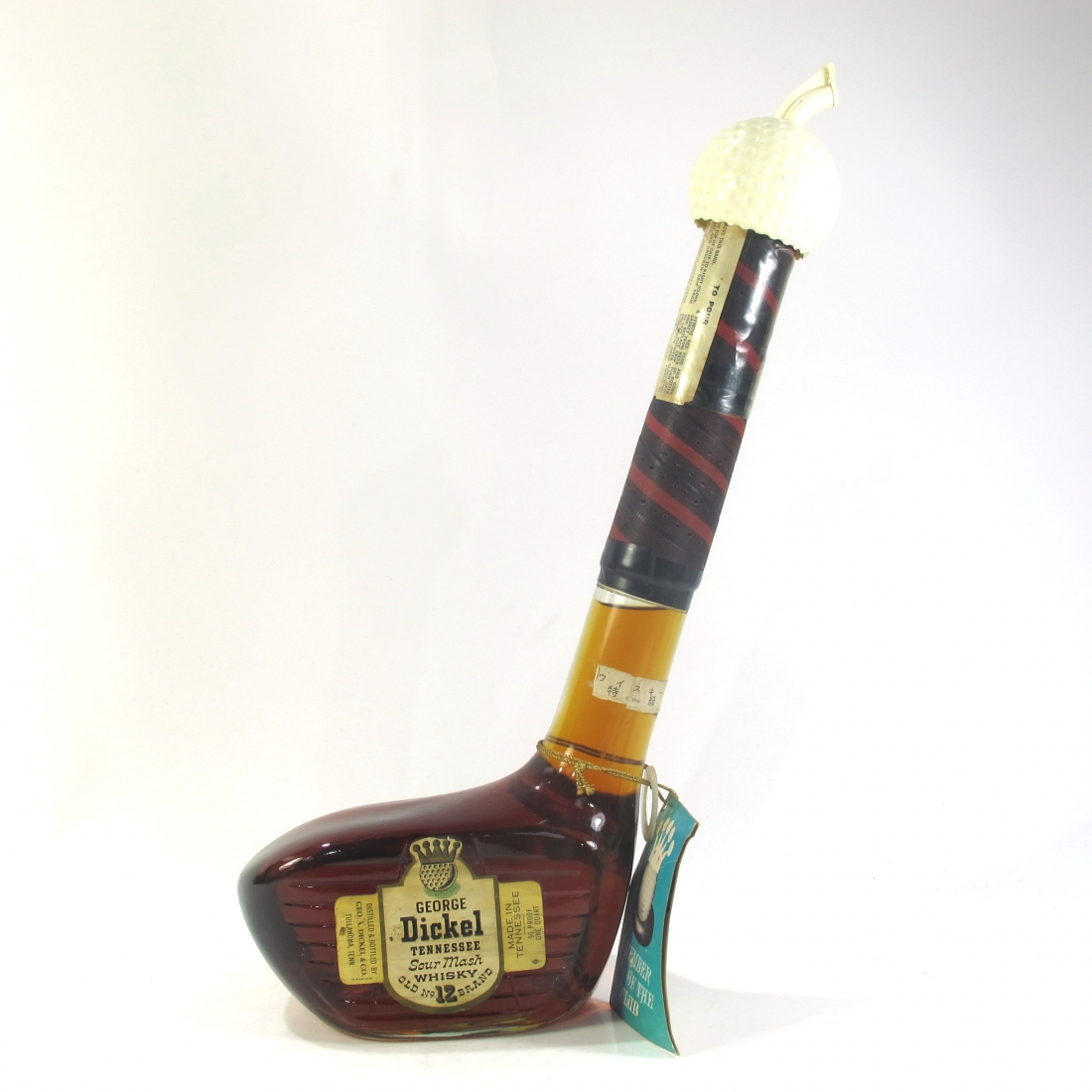 George Dickel Old No.12 Brand Golf Club Bottle 1 Quart 1960s