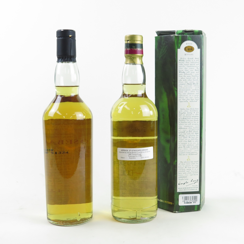 Rosebank 12 Year Old Flora and Fauna and Rosebank 1993 Douglas Laing 11 Year Old / 2 x 70cl