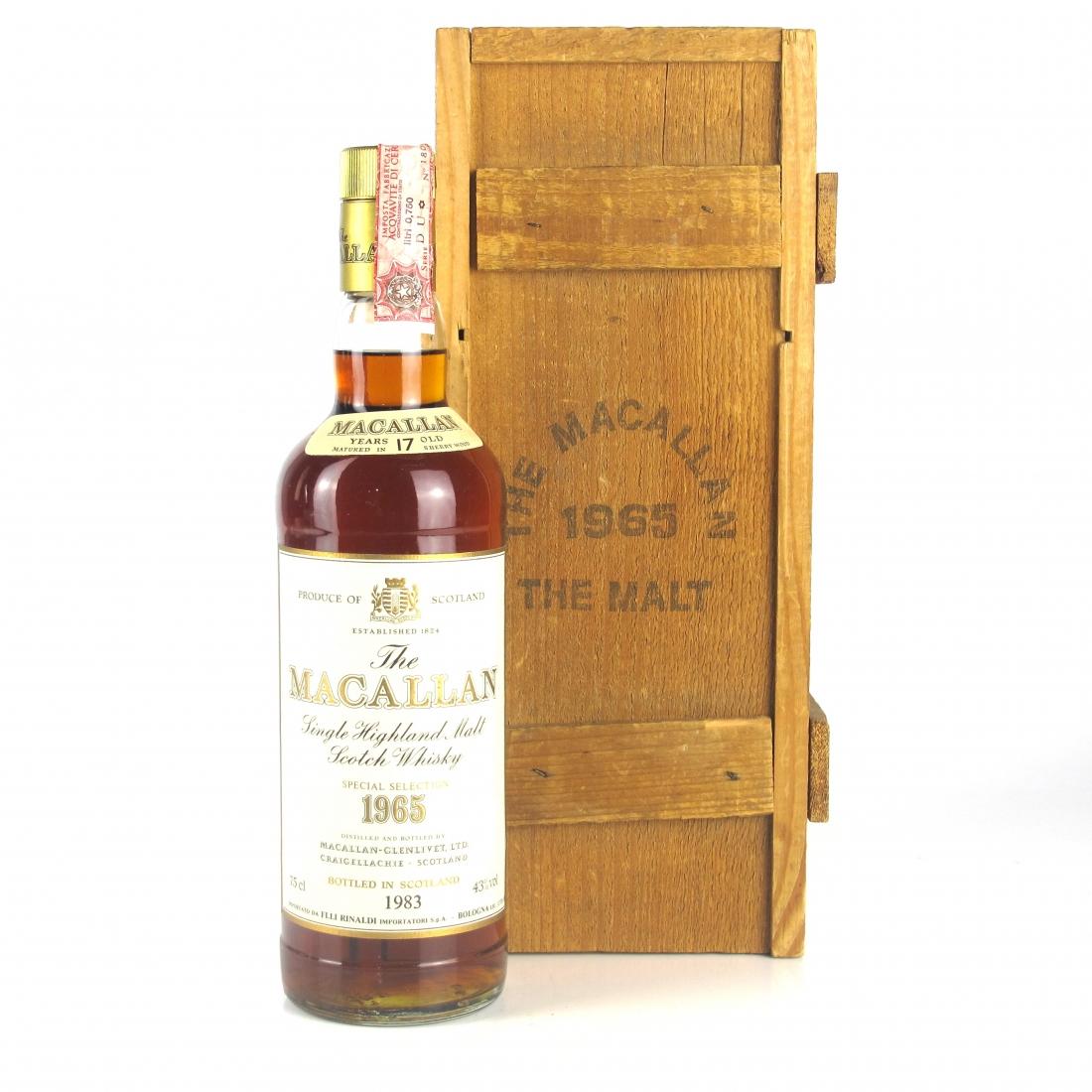 Macallan 1965 17 Year Old / Rinaldi Import