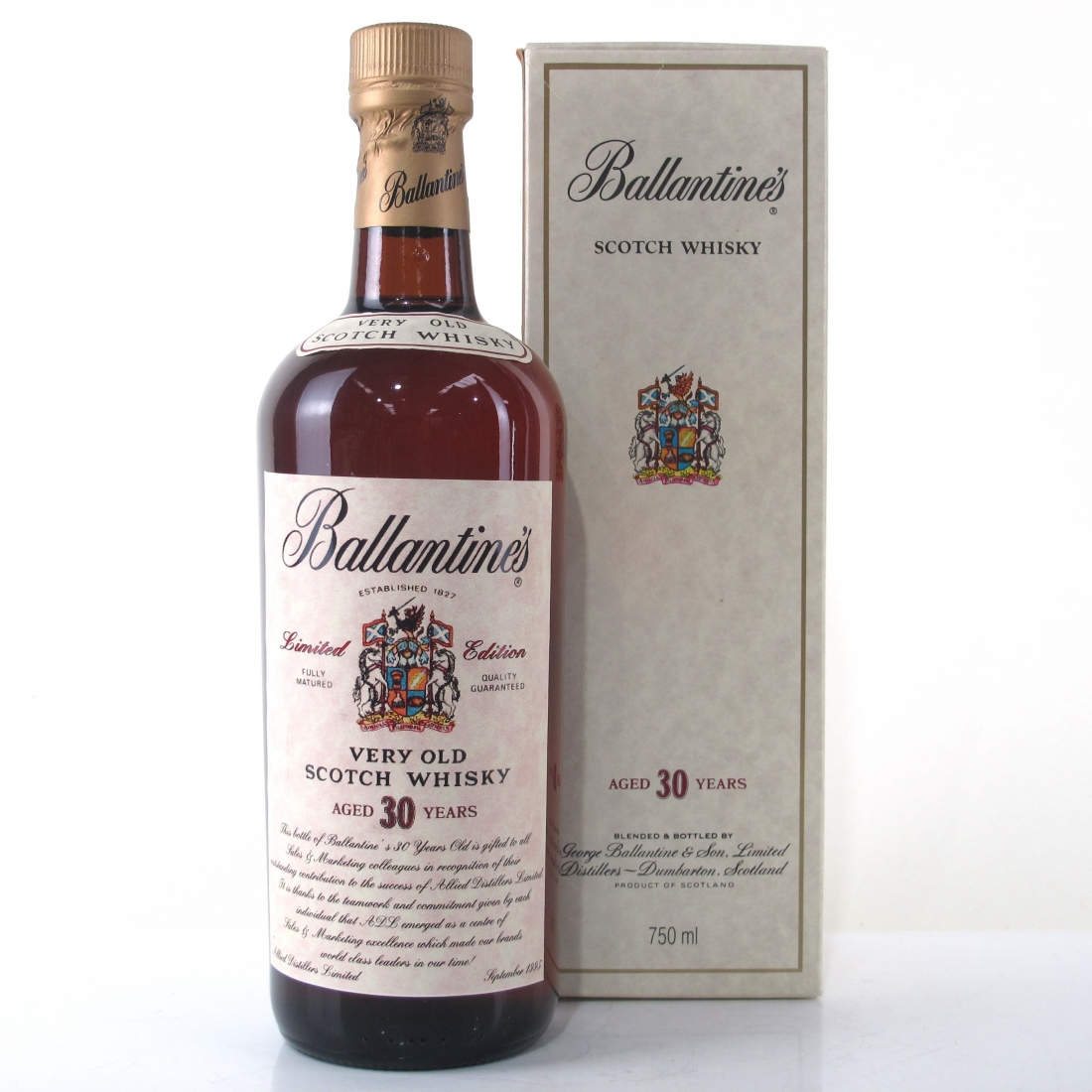 Ballantine's 30 Year Old Allied Distillers Limited Edition