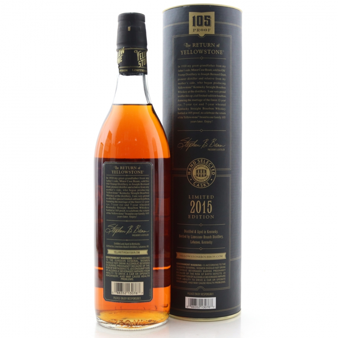 Yellowstone 7 Year Old Kentucky Straight Bourbon 101 Proof / 2015 Edition