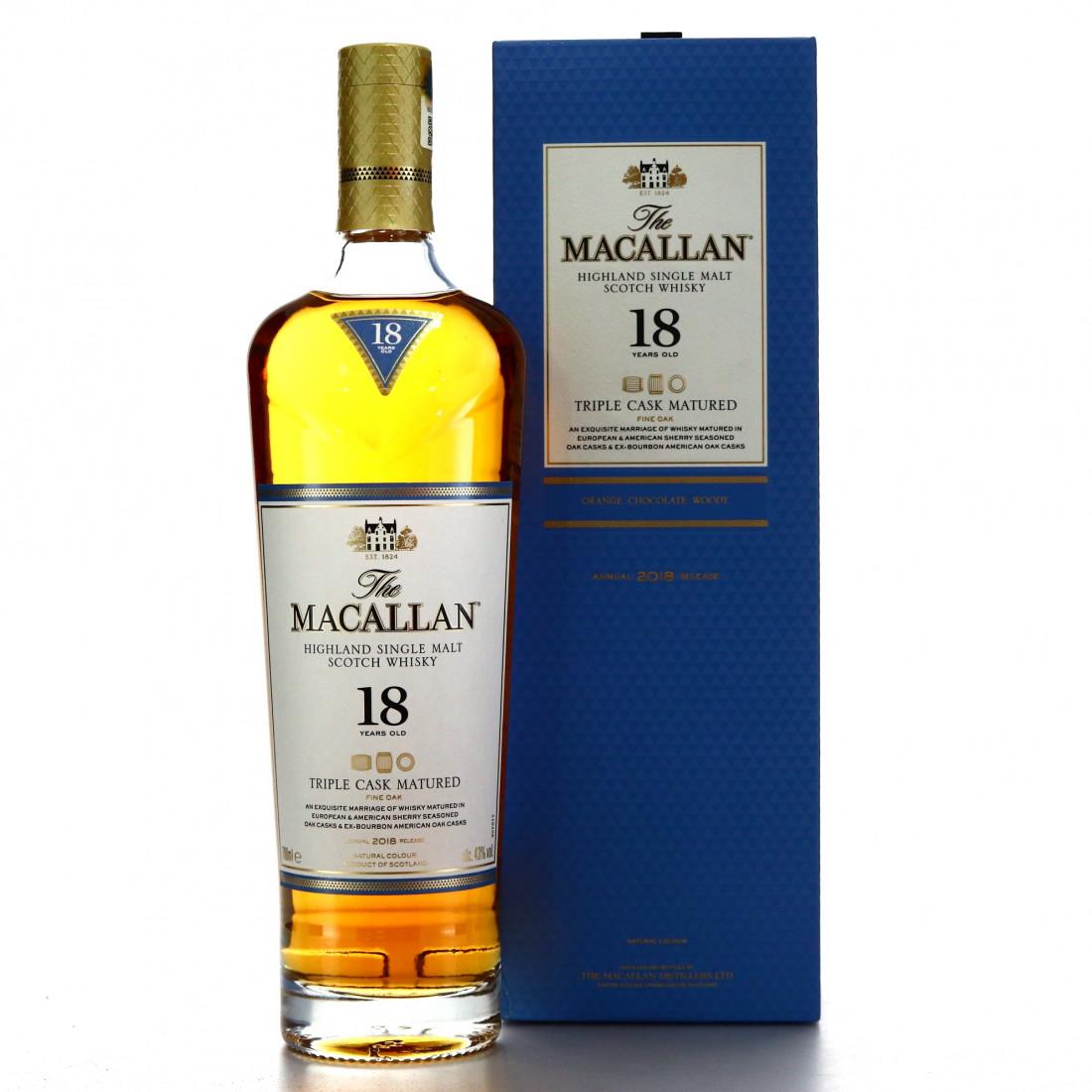 Macallan 18 Year Old Triple Cask 2018 Release