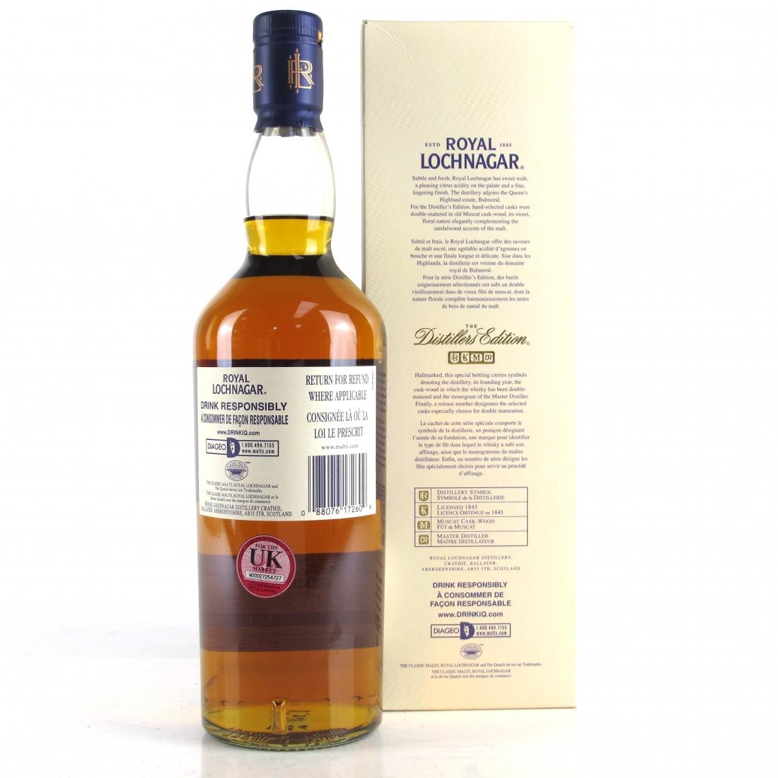 Royal Lochnagar 1998 Distillers Edition 75cl